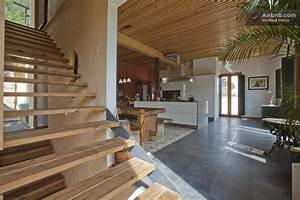 revgercom decoration interieur de maison en bois idee With idee maison plain pied 7 maison en bois construite en bretagne au design interieur