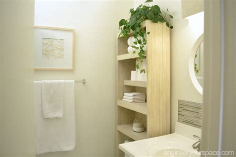 bookshelf bathroom storage  easily accessible