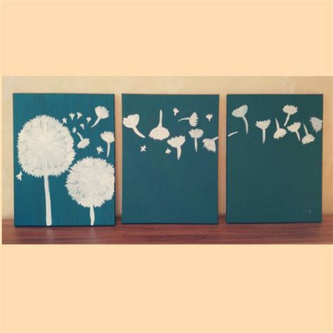 3 ways to design three panel light up dandelion wall art