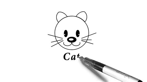 draw  cats face  kids easy fun drawing