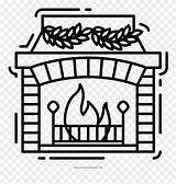 Coloring Fireplace Masjid Line Clipart Pinclipart sketch template