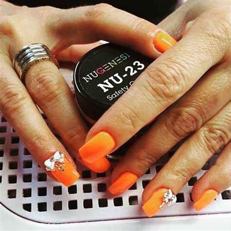 dip powder colors oranges nugenesis nails