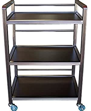 Rolling castor dolly trolley can spice rack 3 tiers holder kitchen storage us. Amazon.com : 3 Tier Wooden Spa Shelf Rolling Cart - Coffee color : Office Products