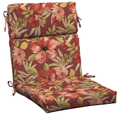hton bay chili tropical blossom high back outdoor chair