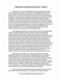 Student Scholarship Personal Statement Essay