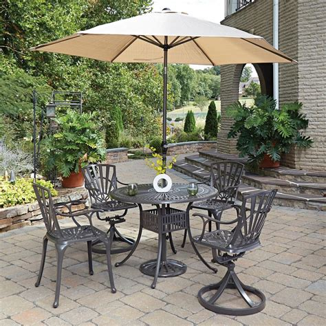 Outdoor Patio Set With Umbrella by Home Styles Largo 5 Patio Dining Set With Umbrella