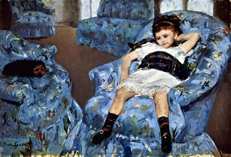 Small Girl In The Blue Armchair By Mary Cassatt Giclee