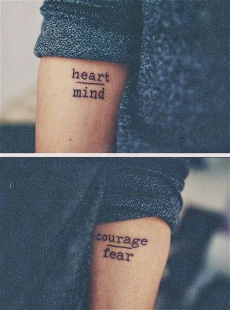Mind Over Matter Tattoos quote tattoos love   fear tattoo  pinterest 445 x 600 · jpeg