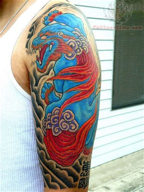 sleeve color ink dragon tattoo