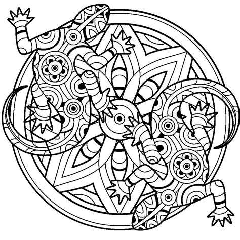 Coloring Therapy by Lizards Mandala Coloring Therapy Pages Coloring Book