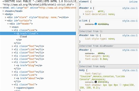 Div Id Css by Html Why Would A Tag Inherit Differently Than A Div With