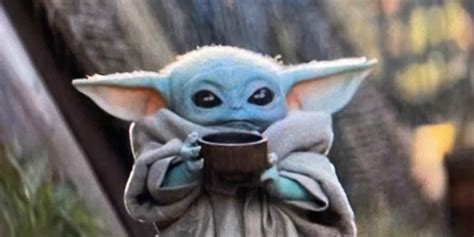 Baby Yoda sipping-soup meme threatens to replace Kermit