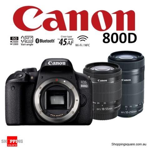 canon eos 800d kit 18 55 stm 55 250 stm dslr digital black shopping