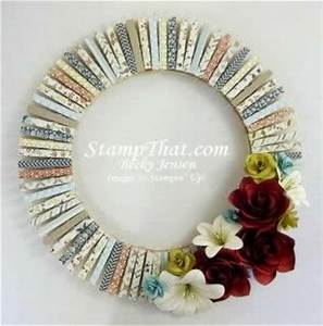 Handmade Home Decor Wreath - Card Stock Flowers, Comfort
