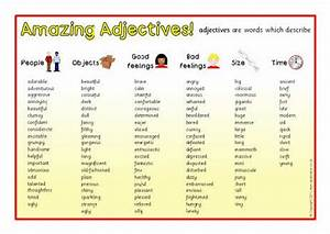 Adjective list from sparklebox.co.uk | Misc | Pinterest ...