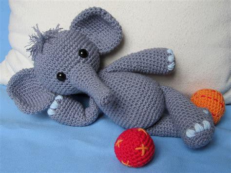 crochet elephant playful elephant bert amigurumi crochet pattern pdf e book stuffed animal tutorial from
