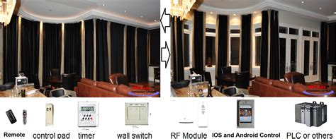 Remote Drapes by 16ft Window Curtain Remote Electric Traverse Rod Track Ebay