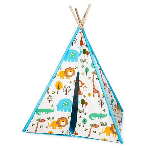 Tipi Kinderzimmer Blau by World Lara Kinder Tipi Zelt Blau Kaufen Manor