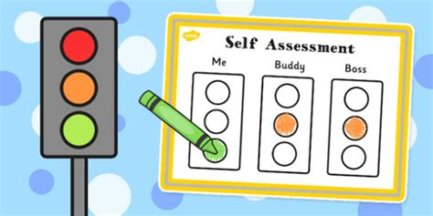 Child Self-assessment Sheet Traffic Lights-self-assessment
