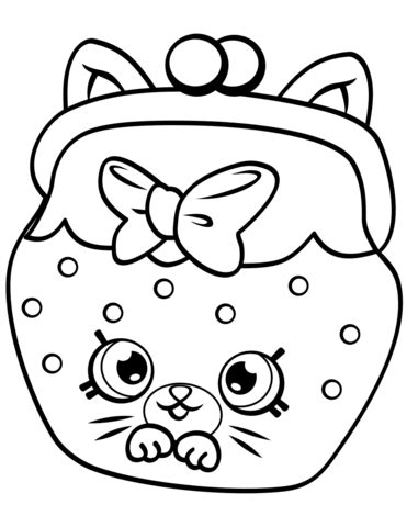 Petkins Cat Snout Shopkin coloring page Free Printable