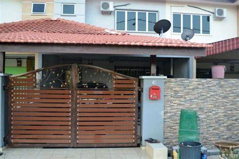 gambar  model pagar rumah minimalis type  desain