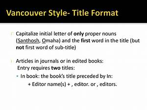 apa citation of a textbook vancouver style of referencing