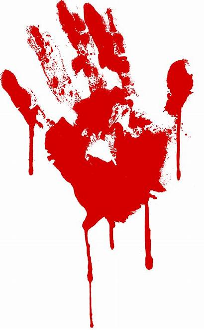 Bloody Blood Handprint Transparent Dripping Puddle Zombie
