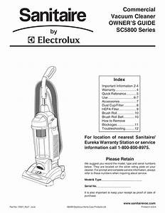 Download Free Pdf For Sanitaire Sc5845 Vacuum Manual