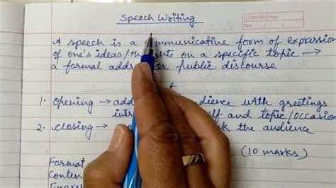 write  speech  class   cbse format