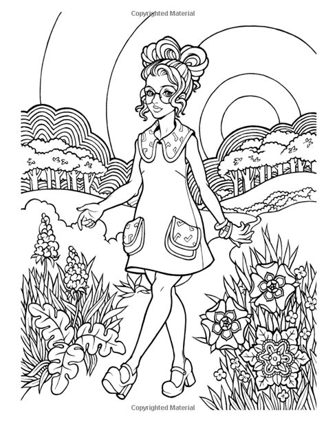 Amazon.com: Groovy 70s: Fashion Coloring Book for Adults