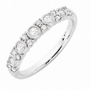 Wedding Band With 13 Carat TW Of Diamonds In 10kt White Gold