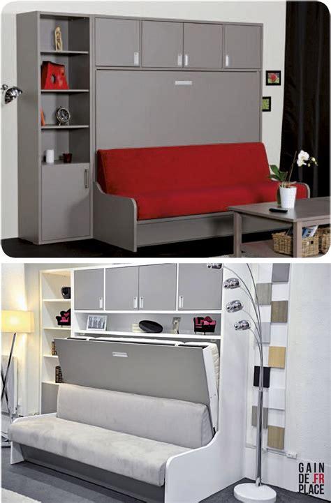 armoire lit canapé escamotable canapé lit escamotable distribué par gaindeplace fr