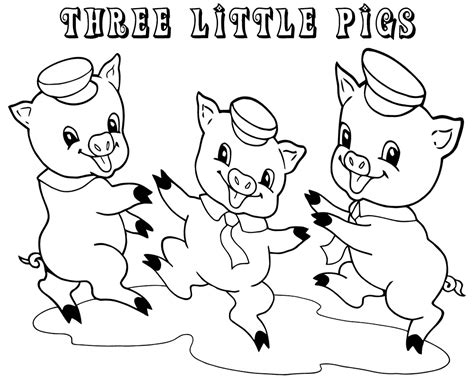 3 Little Pigs Coloring Pages for Preschoolers Learning
