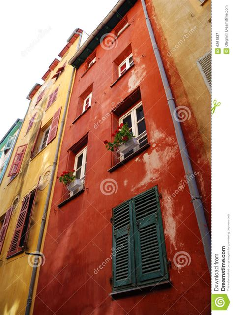 old fashioned wall ls multicolored walls of old fashioned houses in nice royalty