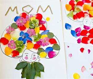 Bricolage Fête Des Pères Maternelle : bricolage carte fete des meres enfant avec fleurs fleurs t ~ Melissatoandfro.com Idées de Décoration