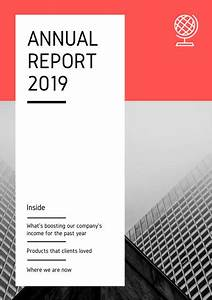 Corporate Cover Letters Red And Grayscale Corporate Company Annual Report