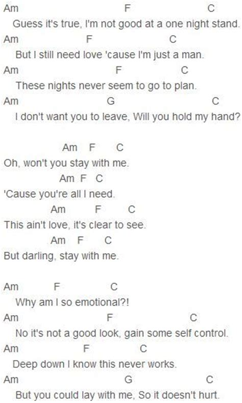 chord piano lagu all of me sam smith stay with me chords sam smith this guitar chords and lyrics