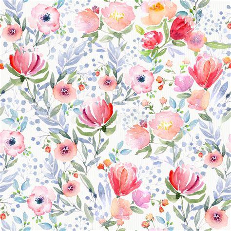 Purple Flower Iphone Wallpaper Watercolor Floral Pattern Stock Illustration Illustration Of Blossom 66702416