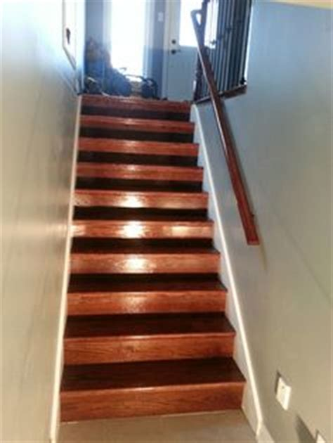 Mahogany Banister by Oak Railing And Stairs Stained Mahogany Www