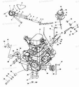 Polaris Atv 2002 Oem Parts Diagram For Engine Mounting
