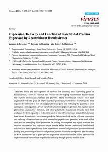 Pdf  Genetic Enhancement Of Baculovirus Insecticides