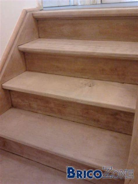 nettoyer escalier bois brut resine de protection pour peinture