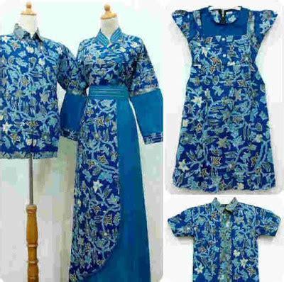 baju batik couple  motif ayah ibu anak model baju