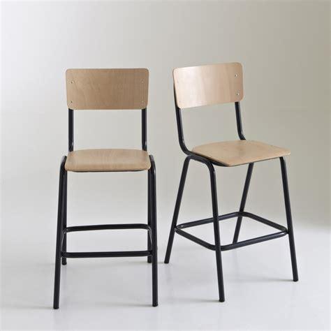 chaise de bar la redoute chaise haute style écolier mi hauteur lot de 2 autre