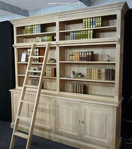 Meuble Bibliothèque Bois : meuble biblioth que directoire biblioth que avec chelle meuble directoire ~ Teatrodelosmanantiales.com Idées de Décoration