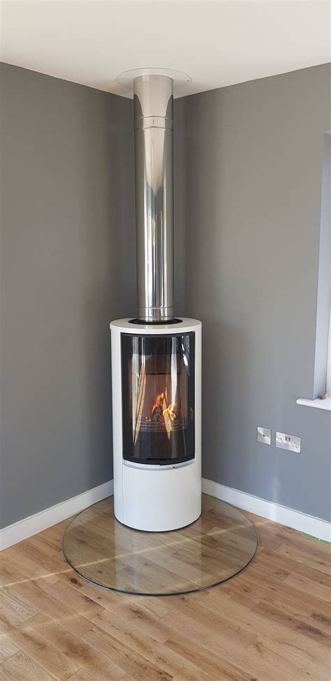 free standing fireplace home design