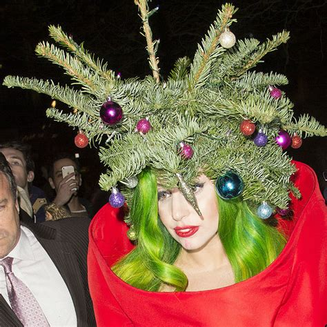 gaga christmas tree mp3 gaga sings to tree at jingle bell gigwise