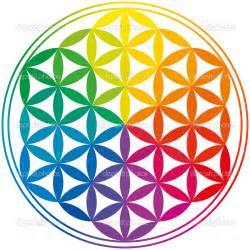 Flower of Life Rainbow Colors