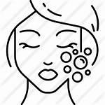 Face Makeup Icon Facial Cleanser Icons Outline