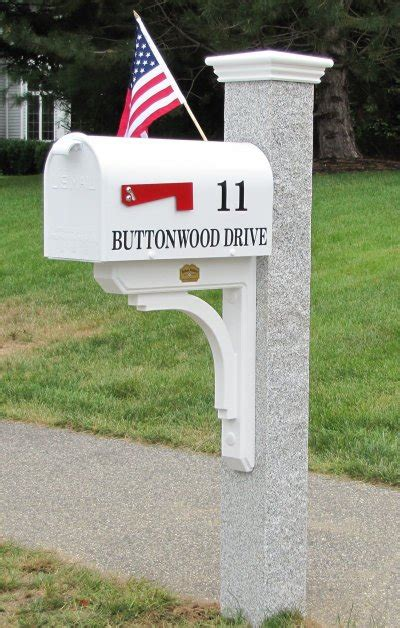 granite mailbox post mailbox brace post cap